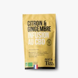 Infusion bio au CBD Gingembre Citron Rest In Tizz pas cher